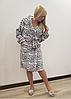 Короткий теплый халат Леопардик, фото 3