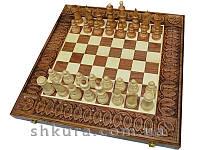 Деревянные шахматы 50 x 50 см. Ручная работа., фото 1