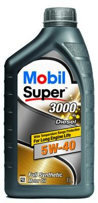 МАСЛО МОТОРНОЕ MOBIL1 SUPER 3000 DIESEL 5W40 1л (MB 5W40 3000 DIE 1L)