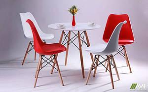 Комплект обідній меблів для кафе: стіл АМФ Helis + 4 стільця Aster Wood