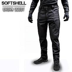"Брюки SoftShell ""URBAN SCOUT"" BLACK (ВИДЕО)"