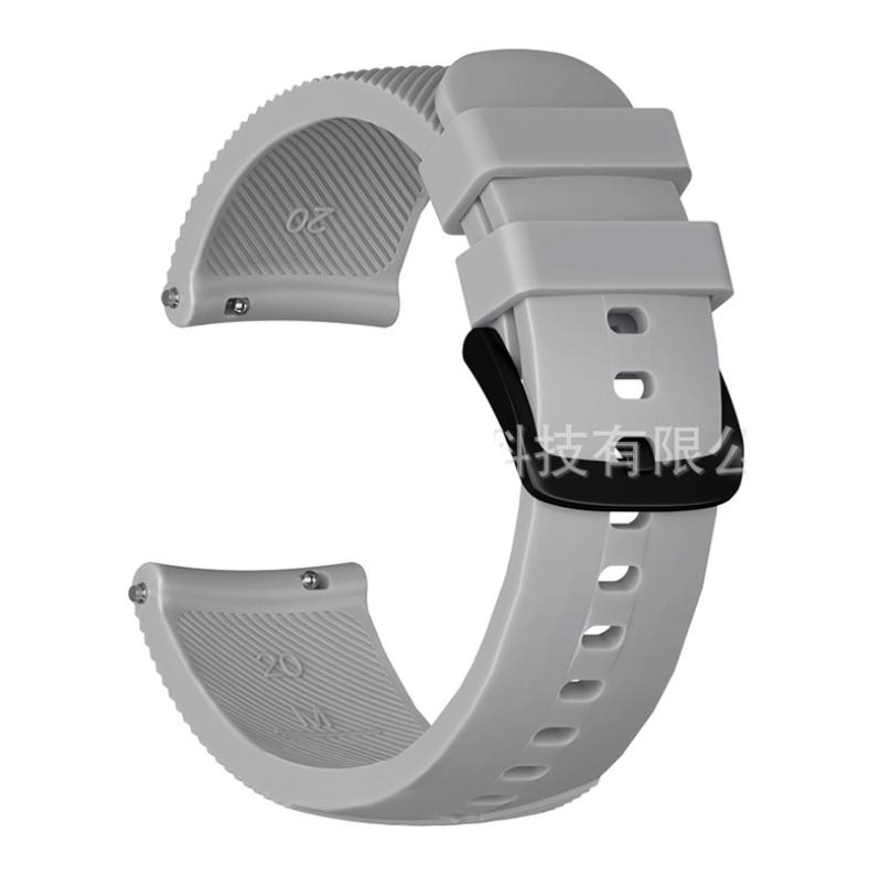 Силиконовый рифленый ремешок Half Strips для Xiaomi AMAZFIT Bip / 20 мм Gray (Серый)