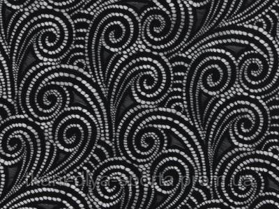 Стрейч-гипюр CHRISANNE (Англия) черный (swirl black)