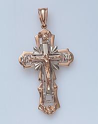 Золотой крестик с распятием. СП03019