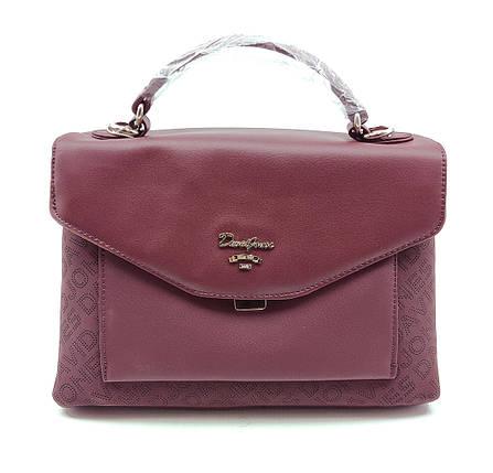 Женска сумка David Jones 19 x 27 x 11 см Бордо (dj6170-2t/3), фото 2