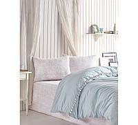 Комплект постельного белья Cotton box Candy Rita Mint Двуспальный евро комплект