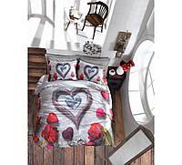 Комплект постельного белья Cotton box 3D Bella Gri Двуспальный евро комплект