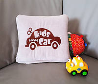 Детский плед с вышивкой Kids Car 04 Slivki бежевый  размер пледа 150х100 см
