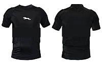 Футболка компрессионная c защитой HexPad ребер,плечей и позвон. BC-3537 (NY, лайкра, EVA, р-р L-XL, черный)