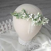 Венок белый. Венок для фотосессии Свадебный венок. Венок нежный.Венок с полевых цветов. Обруч
