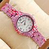 Часы наручные женские Geneva Platinum Purple-flower/White