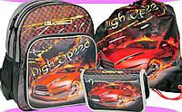 Комплект рюкзак школьный детский Тачки