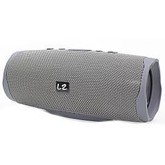 ☜Беспроводная колонка LZ Charge 4+ Silver bluetooth-подключение функция павер банк музыкальная