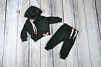 Спортивный детский ангоровый костюм MagBaby, темно зелений / 86р. (12-18міс.)