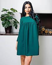 Платешко свободного кроя (цвет - зеленый, ткань - креп костюмка класса люкс) Размер S, M, L (розница и опт)