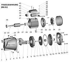 Насос центробежный самовсасывающий 0.75кВт Hmax 46м Qmax 90л/мин LEO (775323), фото 2