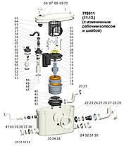 Станция канализационная 0.37кВт Hmax 6.5м Qmax 80л/мин LEO (776911), фото 2