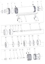 Насос центробежный скважинный 0.75кВт H 111(85)м Q 45(30)л/мин Ø80мм AQUATICA (DONGYIN) (777104), фото 3