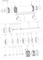 Насос центробежный скважинный 0.75кВт H 78(62)м Q 80(60)л/мин Ø94мм AQUATICA (DONGYIN) (777114), фото 2