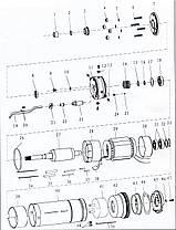 Насос центробежный скважинный 0.55кВт H 77(60)м Q 55(33)л/мин Ø102мм AQUATICA (DONGYIN) (777122), фото 2