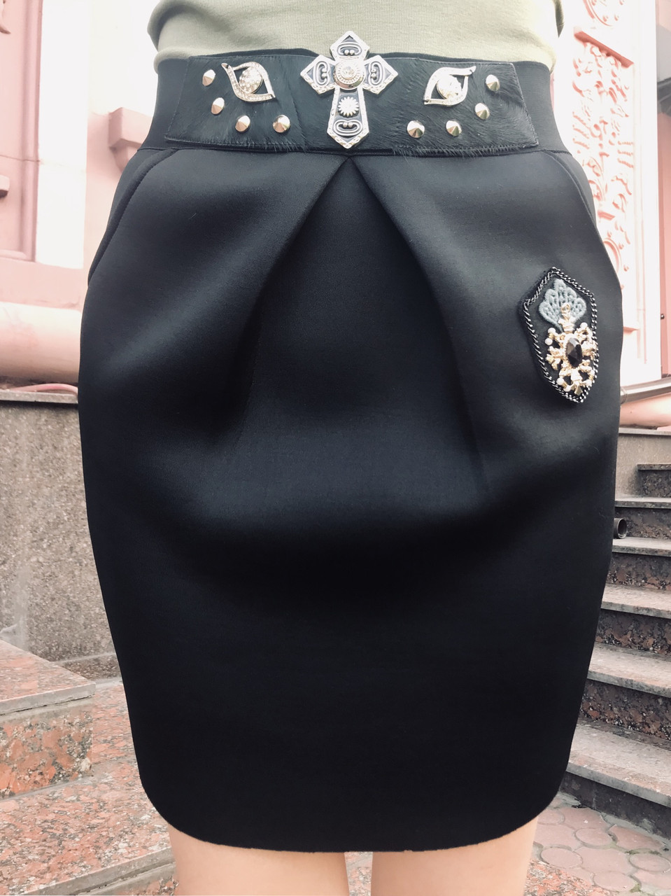Юбка в стиле Dolce&Gabbana черная