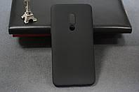 Чехол бампер силиконовый для Meizu 15 Plus ( Мейзу ) цвет черный Soft-touch