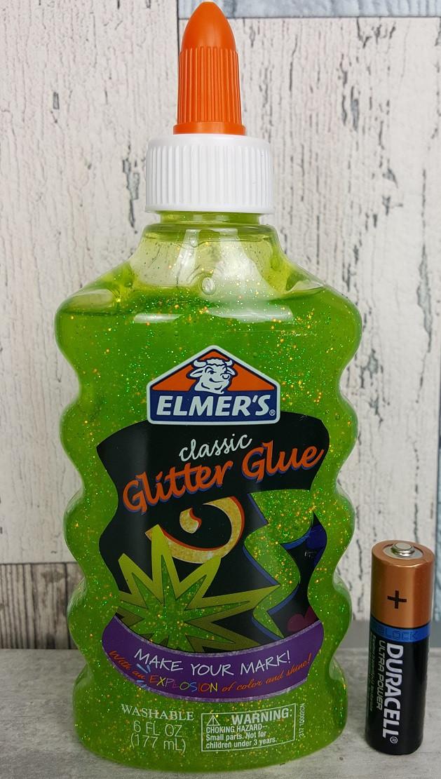 Клей Элмерс для слайма, зелёный с глиттером, 177мл Elmer's glitter glue Green. Оригинал из США