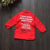 Рубашка детская красная из полиестера