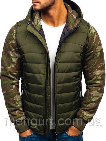 Толстовка(батник,демисезонная спортивная куртка) мужская  с капюшоном Польша, фото 2
