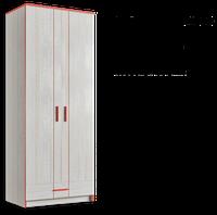 Шкаф платяной 800 Рио 2Д 1Ш, фото 1