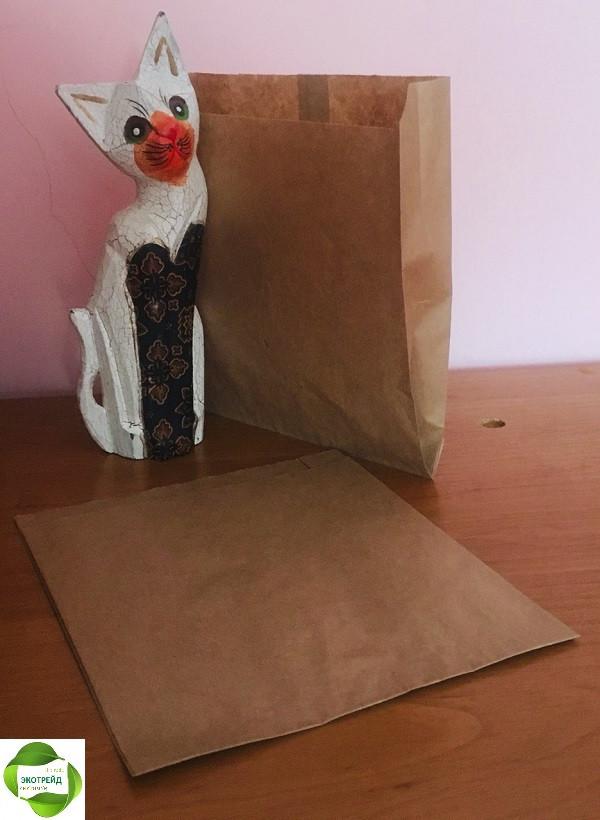 Крафт пакеты для хачапури, пиццы, лаваша 190*40*220 мм бурый