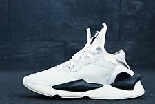 Мужские кроссовки в стиле Yohji Yamamoto Y-3 White\Black бело черные, фото 2