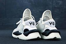 Мужские кроссовки в стиле Yohji Yamamoto Y-3 White\Black бело черные, фото 3