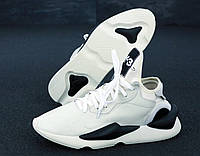 Мужские кроссовки в стиле Yohji Yamamoto Y-3 White\Black бело черные