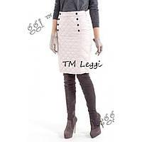 Женская стеганная теплая юбка