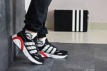 Кроссовки мужские Adidas LXCON плотная сетка,черно-белые, фото 2