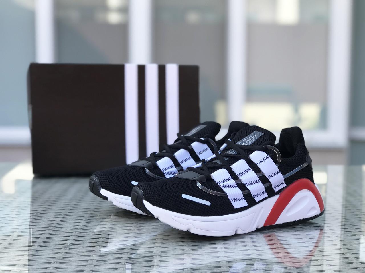 Кроссовки мужские Adidas LXCON плотная сетка,черно-белые