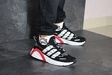 Кроссовки мужские Adidas LXCON плотная сетка,черно-белые, фото 3