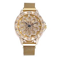 Женские часы с вращающимся циферблатом - Желтый