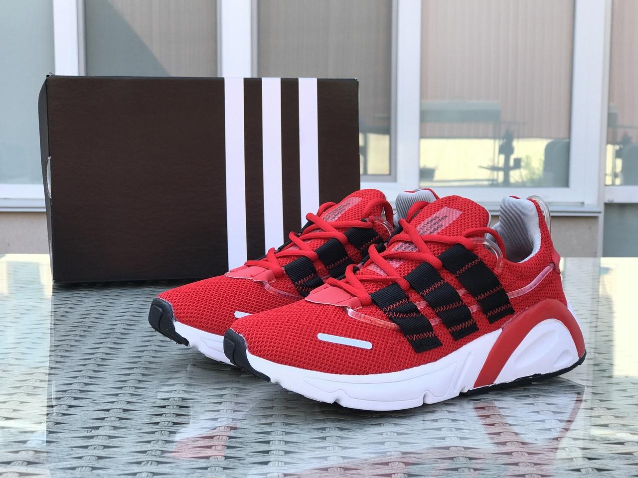 Кроссовки мужские Adidas LXCON плотная сетка,красные 41р