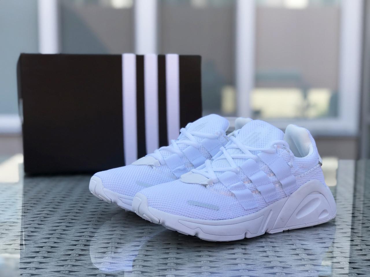 Кроссовки мужские Adidas LXCON плотная сетка,белые