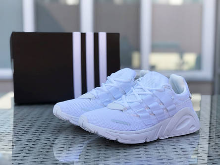 Кроссовки мужские Adidas LXCON плотная сетка,белые, фото 2