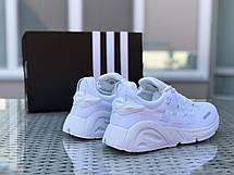 Кроссовки мужские Adidas LXCON плотная сетка,белые, фото 3