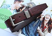 Кожаный ремень Philipp Plein мужской коричневый
