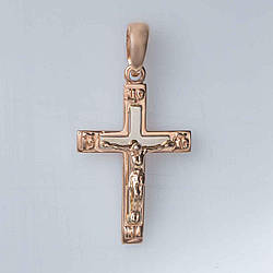 Золотой крестик с распятием. СП03087