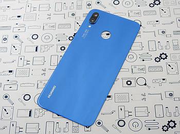 Б.У. Корпус Huawei P20 Lite (ANE-LX1) крышка задняя синяя со стеклом камеры Оригинал