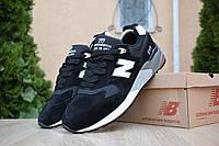 Мужские кроссовки в стиле New Balance 999, замша, черные 41 (26 см)