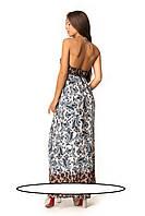 Удобные и легкие женские сарафаны на лето. Размеры:  44-46, 46-48   Глубокий треугольный вырез горловины на за