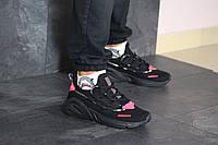 Мужские кроссовки в стиле Adidas LXCON, сетка, пена, черные с красным 41 (25,7 см)