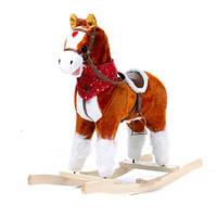 Музыкальная лошадка качалка W02